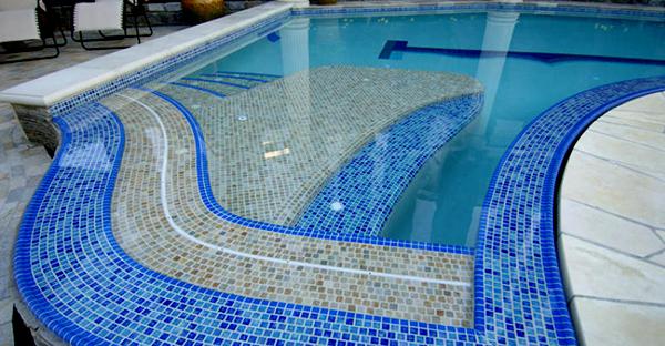 Kết quả hình ảnh cho Gạch mosaic bể bơi